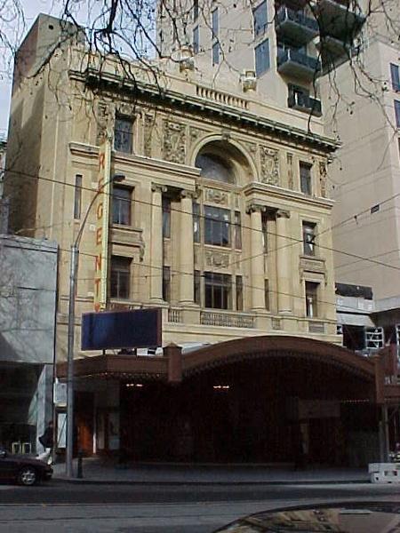 regent theatre collins street melbourne front view jul1999