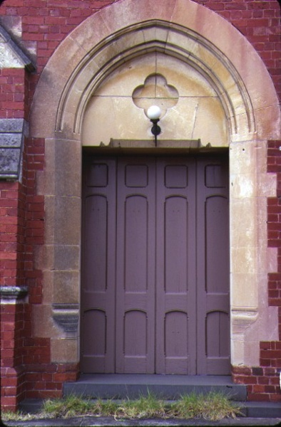 former union church elsternwick front entrance detail