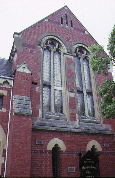 former union church elsternwick front window detail
