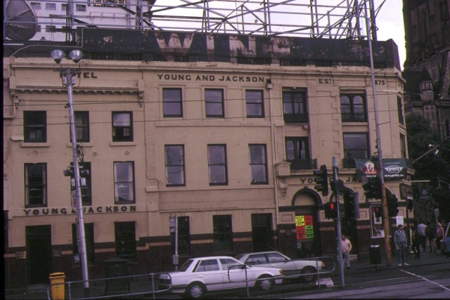 young & jackson's princes bridhe hotel swanston street melbourne view from flinders street