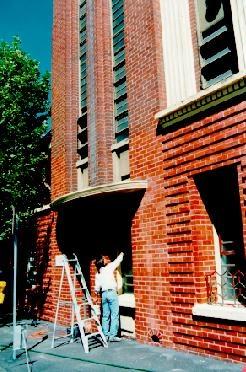 former royal australian army medical corps training depot a'beckett street melb facade detail
