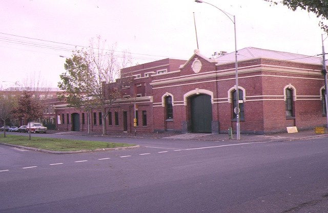 former cable tram engine house rathdowne street carlton north exterior of car shed corner view jun1995