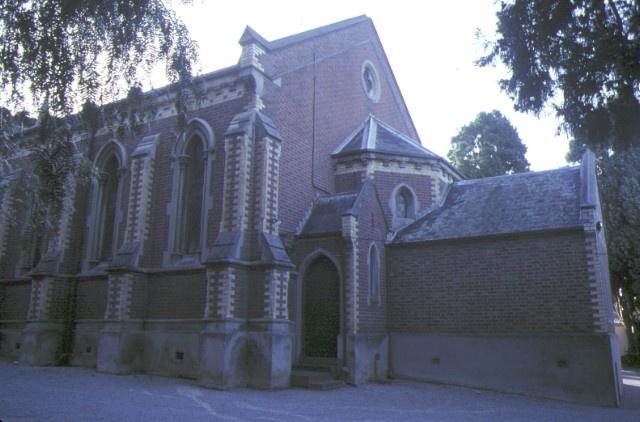 former congregational church brighton rear of church nov1984