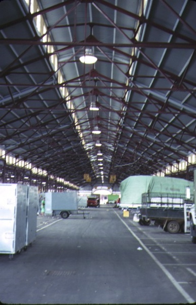 queen victoria market victoria street melboure interior market shed roof detail