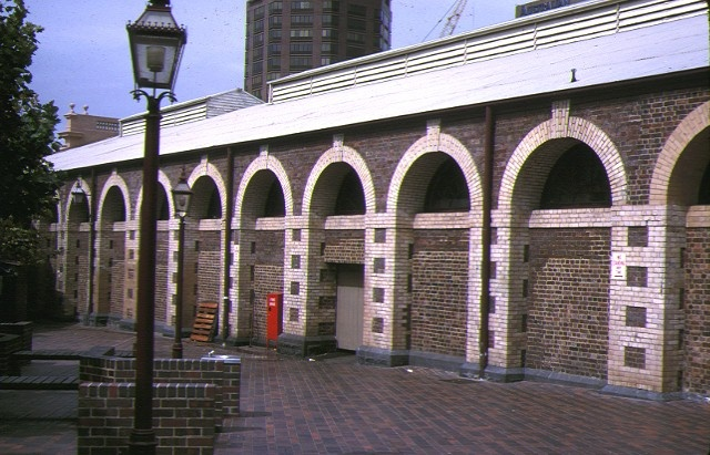 queen victoria market victoria street melbourne side view meat & fish market