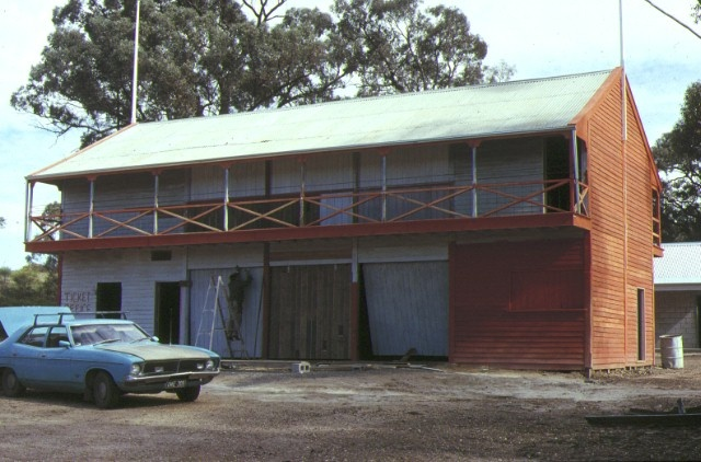 1 tarnagulla public reserve & cricket pavilion front view conserved grandstand