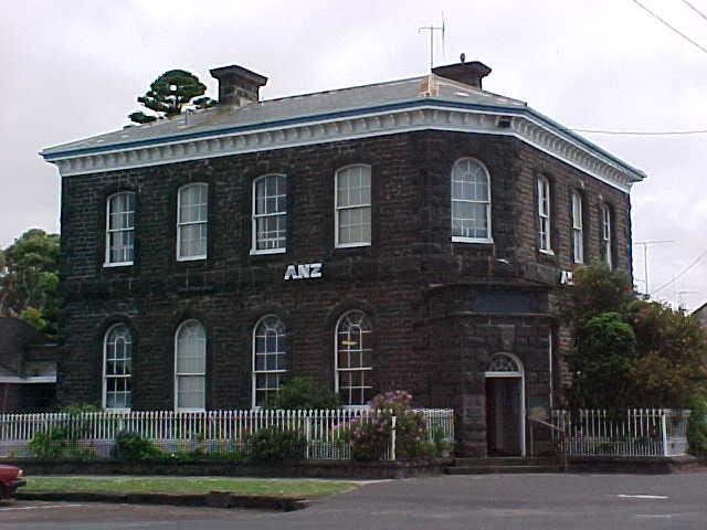 former bank of australasia sackville street port fairy front elevation nov1999