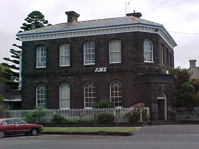 former bank of australasia sackville street port fairy front view nov1999