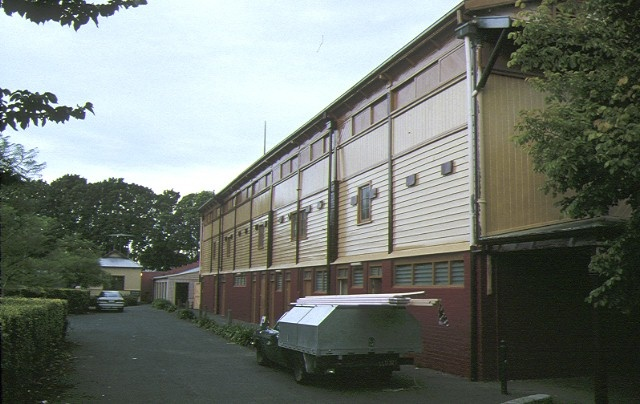 fitzroy cricket ground grandstand brunswick street fitzroy rear view may1993