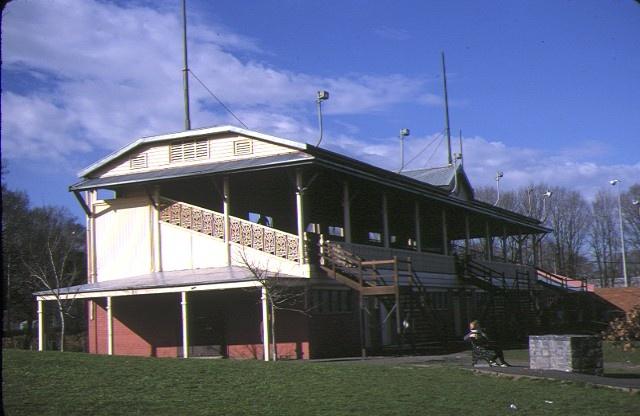 fitzroy cricket ground grandstand brunswick street fitzroy side view aug1985