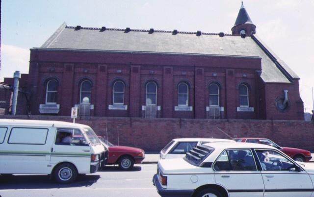st john's church victoria parade east melbourne hoddle street side view nov1988