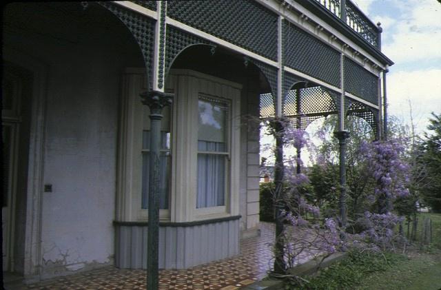 coolock house bendigo detail of verandah oct1980