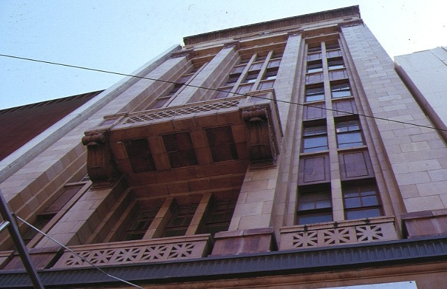 bank of nsw chamber bourke street melbourne front elevation & balcony