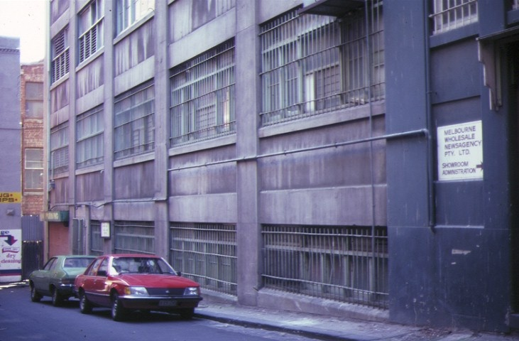 dovers building drewery lane melbourne rear view nov1985
