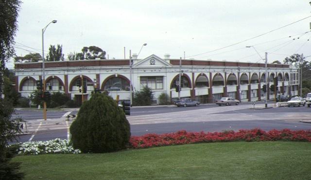 1 former hawthorn tramways trust depot front corner view