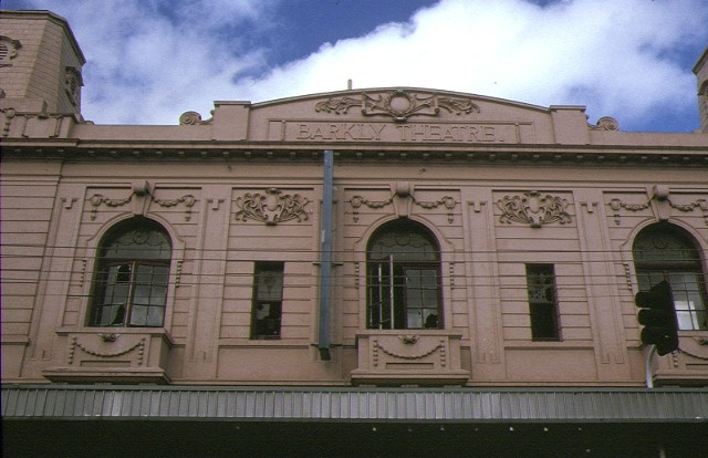 former barkly theatre barkly street footscray front windows aug1990