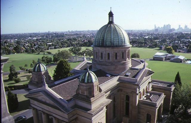 xavier college kew chapel aerial view