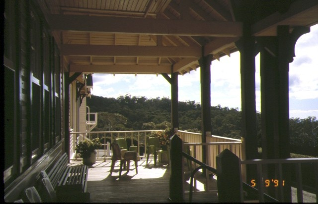 mount buffalo chalet verandah view