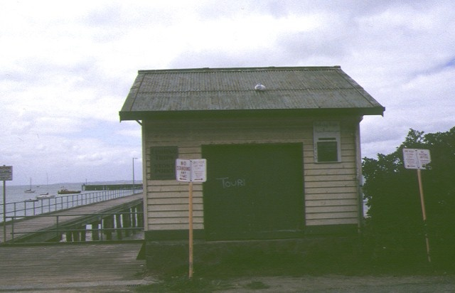 former jetty cargo shed flinders foreshore flinders entrance view