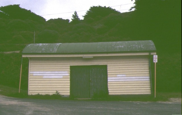 former jetty cargo shed flinders foreshore flinders front shed entrance
