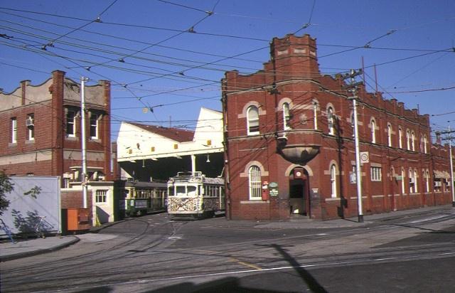 1 tram depot coldblo road malvern tram entrance
