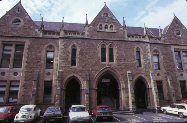 1 old pathology building university of melbourne parkville front entrance may1989