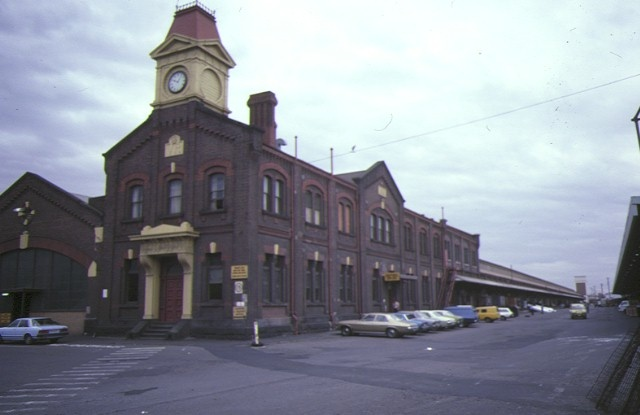 number 3 goods shed & offices flinders street extension melbourne side elevation jan1985