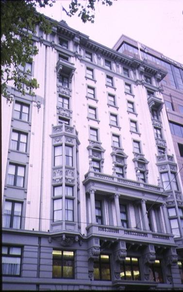 1 commercial travellers association building flinders street melbourne front elevation sep1998