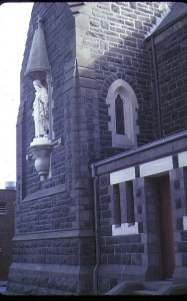 former convent of the good shepherd clarke street abbotsford detail of statue nov1986