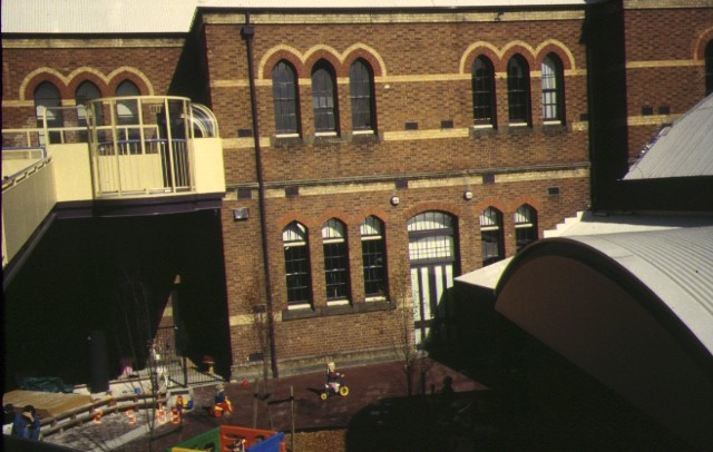former primary school number 2365 queensberry street carlton rear view newly developed courtyard