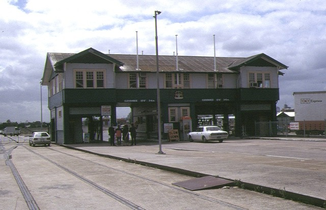 station pier entrance building march 1993