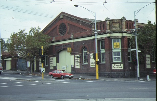 former cable tramway engine house abbotsford street north melbourne front view