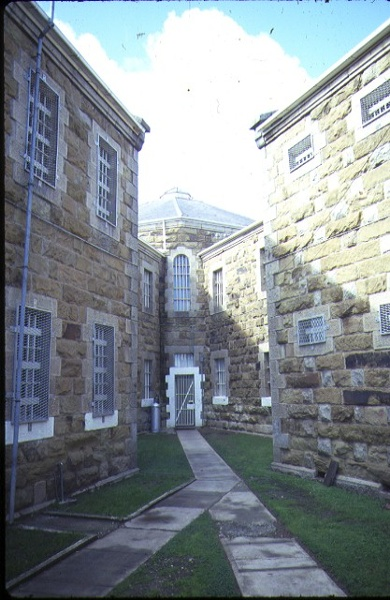 1 former hm prison challis street castlemaine cell block entrance aug1984