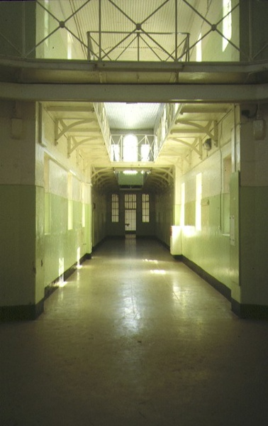 former hm prison challis street castlemaine interior corridor dec1992