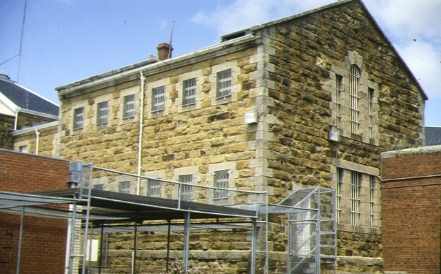 former hm prison challis street castlemaine rear view of cell block
