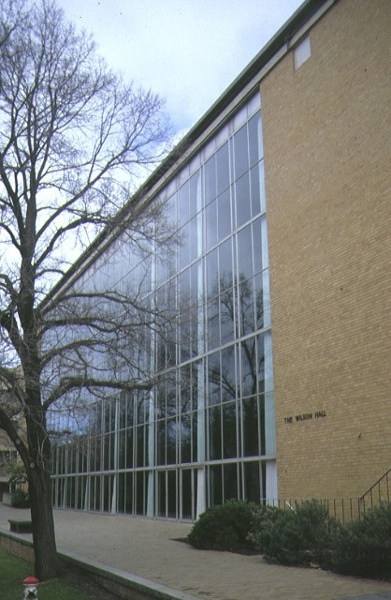 1 wilson hall university of melbourne parkville glass wall side view jul1993
