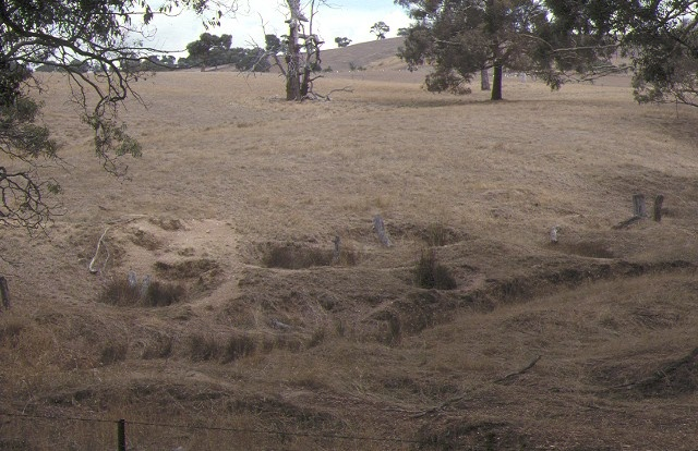 1 hard hill mining site garden gully road stawell landscape mar1990