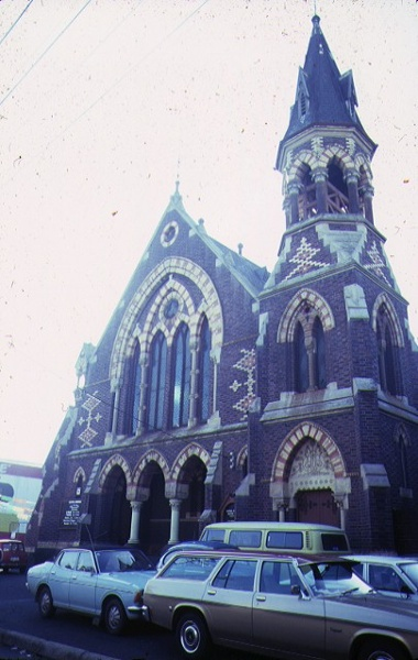 1 former wesleyan church & model school sydney road brunswick front view