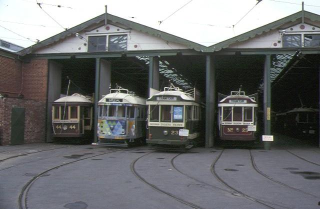 1 bendigo tram sheds front view of tram sheds
