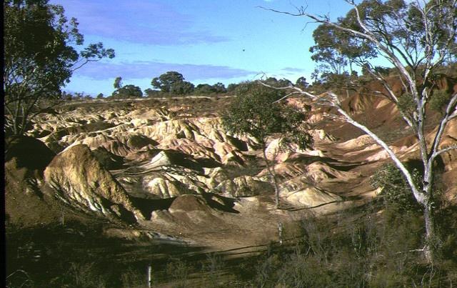 1 pink cliffs hydraulic gold sluicing site heathcote landscape