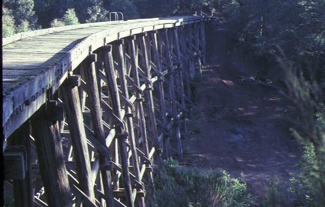 1 rail bridge noojee side view aug1982
