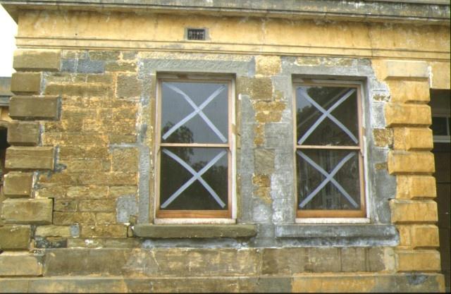 former supreme court now bendigo secondary college bendigo window detail sep1993