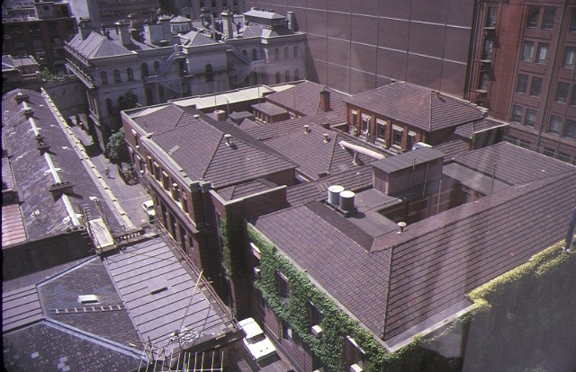 1 former high court building little bourke street melbourne aerial view feb1985