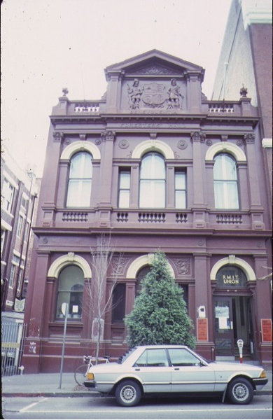 1 former foresters hall la trobe street melbourne front view sep1980