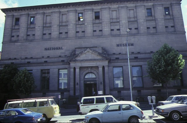 state library of victoria & national museum complex museum entrance russell street jan1985