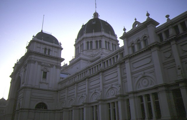 royal exhibition buildings nicholson street carlton side elevation