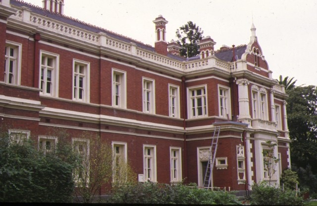 1888 building university of melbourne parkville side elevation