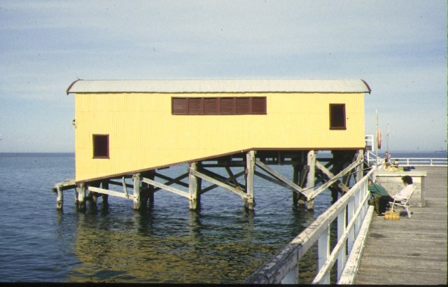 1 south pier waiting room & lifeboat shed queenscliff lifeboat shelter side view