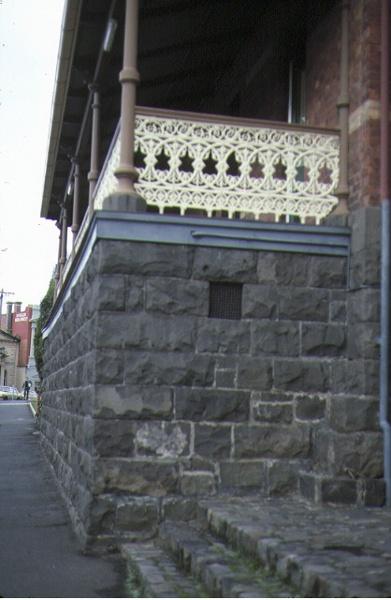 former police station ballarat detail of verandah