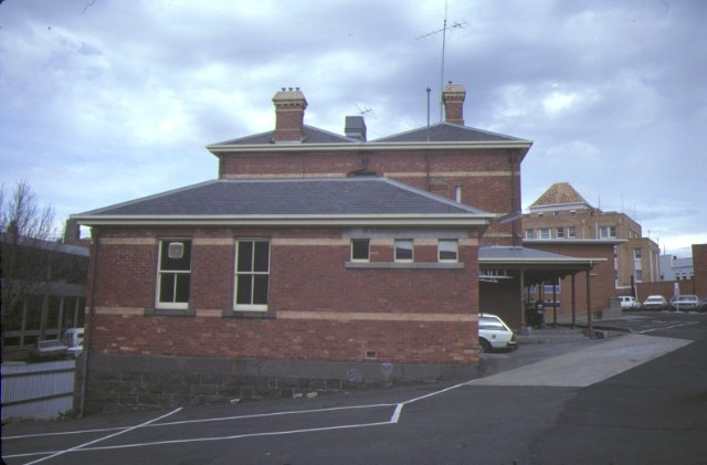 former police station ballarat side elevation